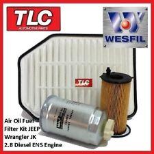 WK57 Air Oil Fuel Filter Kit JK Jeep Wrangler 2.8 TD CRDi Turbo Diesel 2007-on