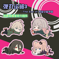 Cute Anime Dangan Ronpa Nanami Keychain ChiaKi Double-faced Nagito Key Ring