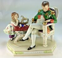 Antique Scheibe Alsbach Napoleon With Betsy  Porcelain Group Figurine