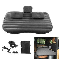 Travel Inflatable Bed Car Back Seat Flocking Mattress Airbed with Pump Black