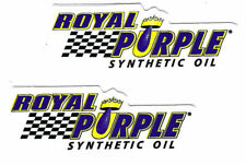 Royal Purple Racing Decals Stickers Set Of 2 Body Black Window Auto Vinyl Small