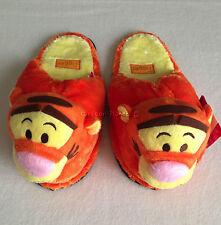 DISNEY WINNIE THE POOH TIGGER Plush Slippers Shoes UK 4-8, EU 36-42, US 6-10