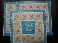K905 STAMPS  GHANA  1964  SPACE  MI 185-87  SHEETS  MNH