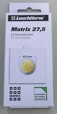 Leuchtturm 25 Münzrähmchen MATRIX 27,5 mm selbstklebend