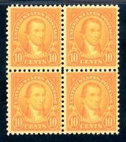 USAstamps Unused VF US Monroe Flat Press Block Scott 562 OG MNH