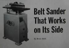 Vertical Belt Sander How-To Build PLANS 6x48 Conversion