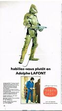 Publicité Advertising 1973 Les vetements de travail Adolphe lafont