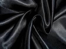 Superbe tissu SATIN NOIR en 150 cm de large / PRIX AU METRE !