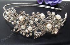 Rhinestone Crystal Bridesmaid Flower Girl Bridal Wedding Headband Tiara #2