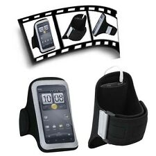 Sports Armband Jogging Pouch Case Black Protector for Kyocera Rise Android Phone