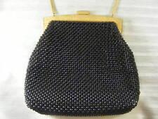 Vintage Black & Gold Mesh Bead Purse Whiting & Davis
