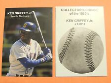 1989' COLLECTOR'S CHOICE  KEN GRIFFEY JR. CARD #5 OF 9  RARE ROOKIE MARINERS