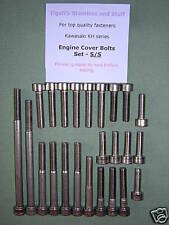 Kawasaki S1/KH250 - Engine Cover Bolts Set - Stainless Steel