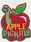 Girl Boy Cub APPLE PICKING WORM Fun Patches Crests Badges SCOUTS GUIDES Iron On
