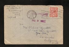 Cricklewood, England--1930 King George V Cover--Los Angeles, CA Backstamp