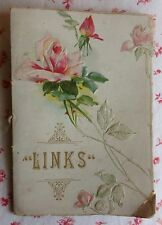 """Victorian Era Poetry Booklet """"LINKS"""" 1800s The Art Lithographic Publishing Co."""