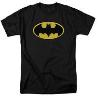 BATMAN CLASSIC LOGO Licensed Adult T-Shirt All Sizes