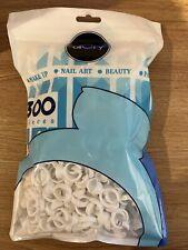 300 Pcs White Glue Rings Disposable for Eyelash Extensions Makeup Nail Art...NEW