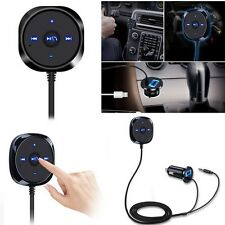 Car AUX Hands Free Wireless Bluetooth Speaker Magnetic Base Phone USB Charge
