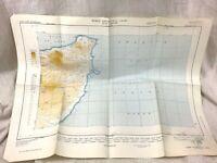 1954 Vintage Luftfahrt Karte Icao Umhang Guardafui Italienisch Somaliland Afrika