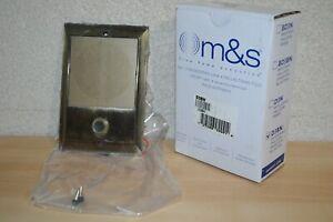 OM&S Systems D3BN Intercom Door Bell Antique Brass Black Button