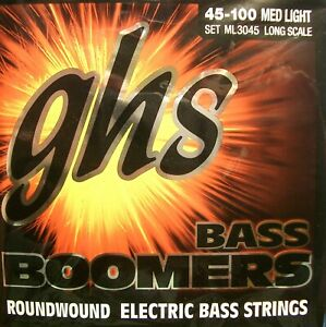 GHS Bass Boomers Set ML3045 4-string Med Light 045-100 Long Scale