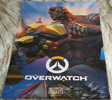Blizzcon 2017 Official Overwatch Doomfist Signed Poster
