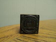 Vintage National Union Insurance Companies  Printing Press Ink Stamp Block