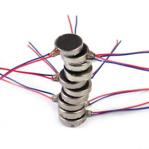 10Pcs DC3-5V Micro DC Vibration 1020/1027/1030/1034 For Phone Coin Flat Motor