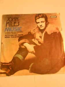 45 giri PUTTING MY NEW SONG TOGETHER -MUSIC - JOHN MILES -VINTAGE