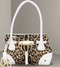 """Dolce & Gabanna """"Miss Doll"""" Leopard Bag Purse Shopping Tote Retail $1225"""