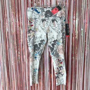 NWT Love. life. Live floral print high waist athletic 7/8 yoga leggings Large L