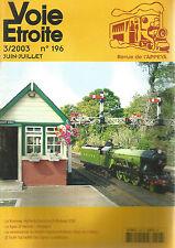 VOIE ETROITE N°196 ROMNEY, HYTHE & DYMCHURCH RAILWAY / LIGNE ST GERVAIS-MARTIGNY