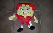"2010 SPONGEBOB 8"" Plush Football Player sponge bob Stuffed Animal rare toy"