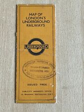 More details for london underground stingemore pocket map southend stamped issue 1932