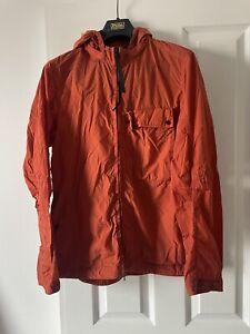 CP Company Chrome R-mixed Google Hooded Overshirt Orange Medium RRP £380