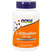 L-Citrulline 750mg 90 Veg Caps NOW Foods - Immune Support, Protein Metabolism 73