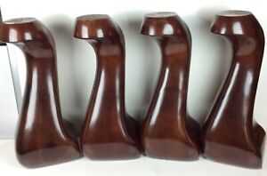 Beautiful Set of 4 Queen Anne Cherry Finish Pool Table Legs