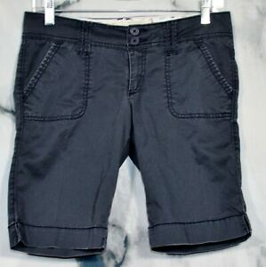 HOLLISTER Charcoal Gray Stretch Cotton Shorts 3 Four Pockets Unlined Summer