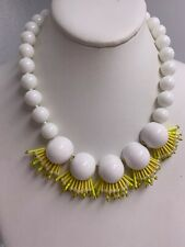 $128  Kate Spade yellow bead statement necklace #713