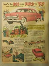 "Ford  Ad: ""Here Is The Big new Ford for 1952""  from 1952"