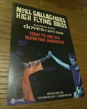 Noel Gallagher Oasis x2 Rare 21×15cm Large Flyer Heaton Park Manchester 2019