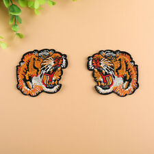 Embroidered Tiger Patches Iron On Applique Fabric Badge Jacket Bags DIY Sewing