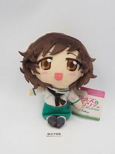 "Girls und Panzer B2708 Yukari Akiyama Furyu Strap Mascot Plush 6"" Toy Doll Japan"