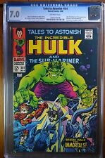 TALES TO ASTONISH #101 CGC 7.0 FINAL ISSUE STORY XOVER TO HULK #102 1968 Marvel