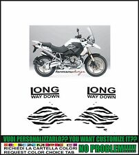 kit adesivi stickers compatibili r 1200 gs long way down zebra