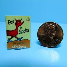 Dollhouse Miniature Replica of Book Dr Seuss Fox in Socks ~ B075