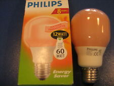 PHILIPS ENERGY SAVER TERRACOTTA 12W T60 E27 ES 8000h 12W-60W