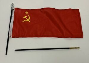 1/6th Scale WW2 Cloth Soviet Union Flag with Wood Pole and Brass fittings
