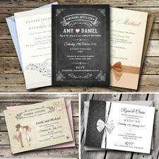 Personalised Wedding Invitations Day or Evening  with FREE Envelopes